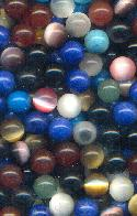 8mm Mixed No Hole Beads