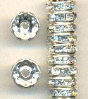 10mm SP Spacer Bead w/ Clear Rhinestones