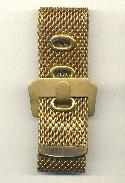25mm Wide Brass Mesh Bracelet