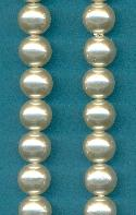 10mm Acrylic Round Off-White Pearls