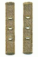 5 5/8'' x 25.5mm Mesh Brass Chain
