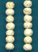 7.2mm Mixed Carved Bone Beads