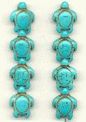 18x14mm Turquoise Turtle Beads