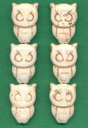 28x19mm Off White Magnesite Owl Beads