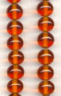 10mm Topaz Glass Beads