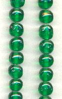 8mm Baroque Emerald Glass Beads