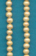 3.5mm Beige Glass Pearl Beads