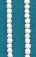3mm White Baroque Glass Beads