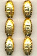 22x12mm Metalized Plastic Gold Beads