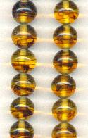 12mm Tortoise Pressed Glass Beads