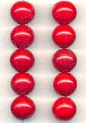 14mm Red Glass Beads
