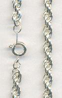 18'' Silver Plated Rope Necklace Chains