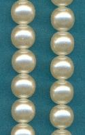 12mm Cream/Off White Glass Pearls Beads