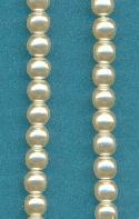 4mm Off-White Glass Pearl Beads