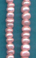 6mm Pink Pearl Glass Beads