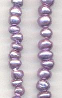 6mm Purple Pearl Glass Beads