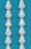 9x6.5mm White Opal Glass Beads