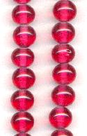 11mm Dark Rose Glass Beads