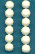 10mm Ivory Glass Beads