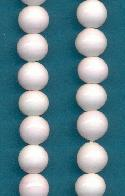 10mm White Coral Glass Beads