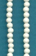 4mm Ivory Pressed Glass Beads