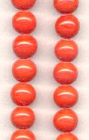 12mm Coral Pressed Glass Beads