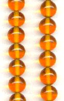 12mm Topaz Glass Beads