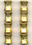 16x13mm Metalized Gold Plated Bead