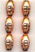 22x12mm Metalized Plastic Copper Beads
