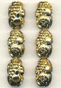 27x17mm Antique Gold Fruit Beads