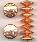 8x20mm Metalized Plastic Copper Beads