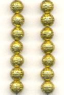 8mm Antique Gold Plated Metal Beads