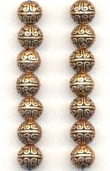 8mm Antique Copper Plated Metal Beads