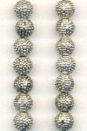8mm Antique Silver Bumpy Metal Beads
