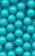 8mm Turquoise Plastic No Hole Beads