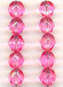 11.5mm Rose AB Faceted Glass Beads