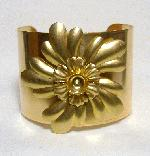 2'' Brass Cuff with Flowers and 45ss