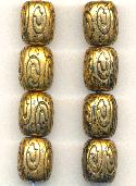 16x13mm Antique Gold Metalized Beads