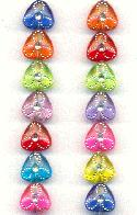 9mm Transparent Plastic Triangle Beads
