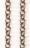 5mm Antique Copper Plated Rolo Chain