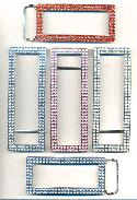 Mixed Silver Plated RS Belt Buckles-3