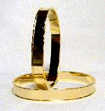 9.5mm Gold Oval Bangle w/ 7.5mm Channel