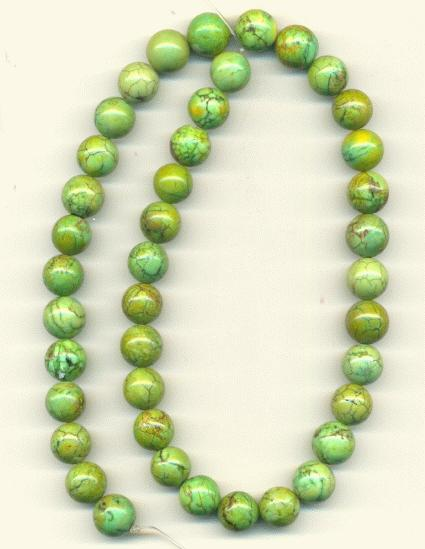 10mm Green Lace Agate Beads | Jan's Jewelry Supplies