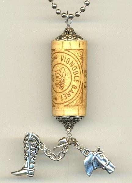 Western Wine Cork Necklace Jan S Jewelry Supplies