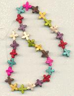 Strand of 15mm Multi-Colored Crosses