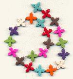 Strand of 20mm Multi-Colored Crosses