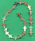 Strand of Semi-Precious Cross Beads
