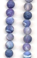 7-8mm Dark Blue Agate Beads