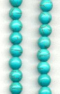 8mm Magnestie Turquoise Beads