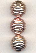22mm Rose Gold Colored Textured Bead